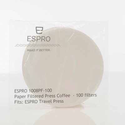 ESPRO PAPER FILTER (TRAVEL PRESS-100 PCS)